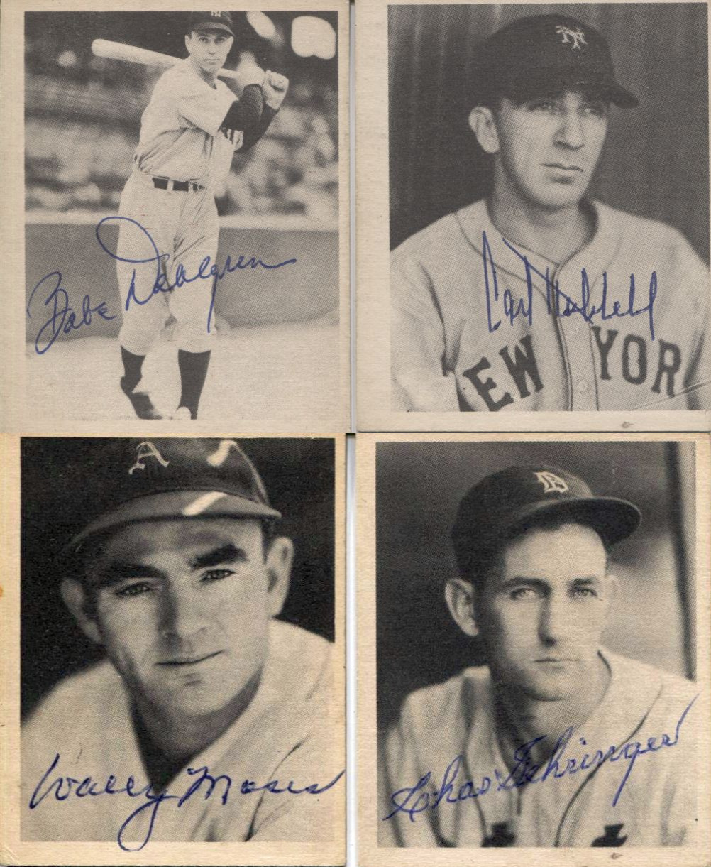 Lot Detail 1939 Play Ball Baseball Card Sample Lot Of 4 Autographed