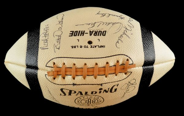 Lot Detail - 1965 Baltimore Colts Team Signed Football 10 ...