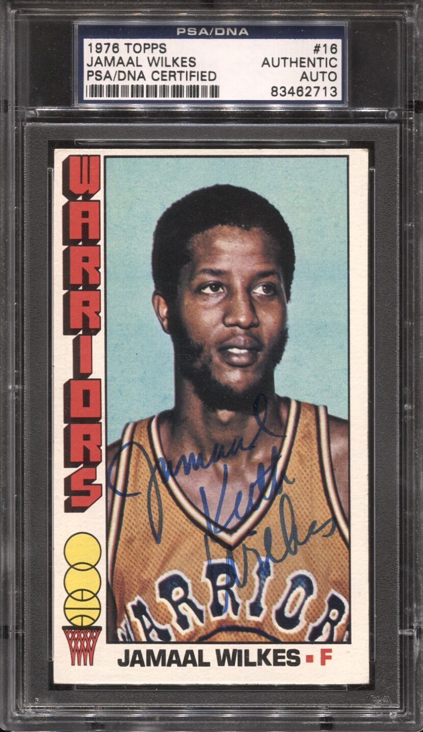 Lot Detail Jamaal Wilkes 16 Signed 1976 Topps Basketball Card