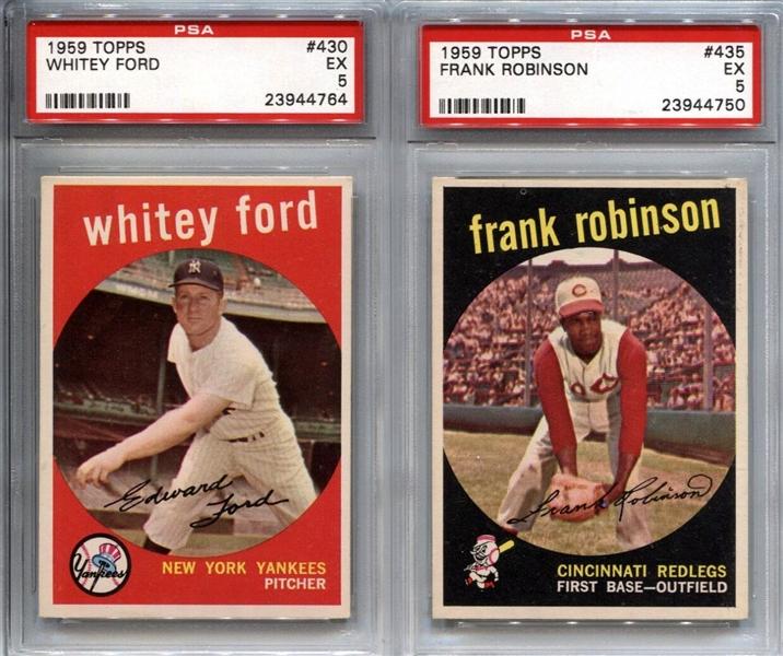 lot detail 1959 topps baseball psa graded group of 15 banks brooks frank robinson. Black Bedroom Furniture Sets. Home Design Ideas
