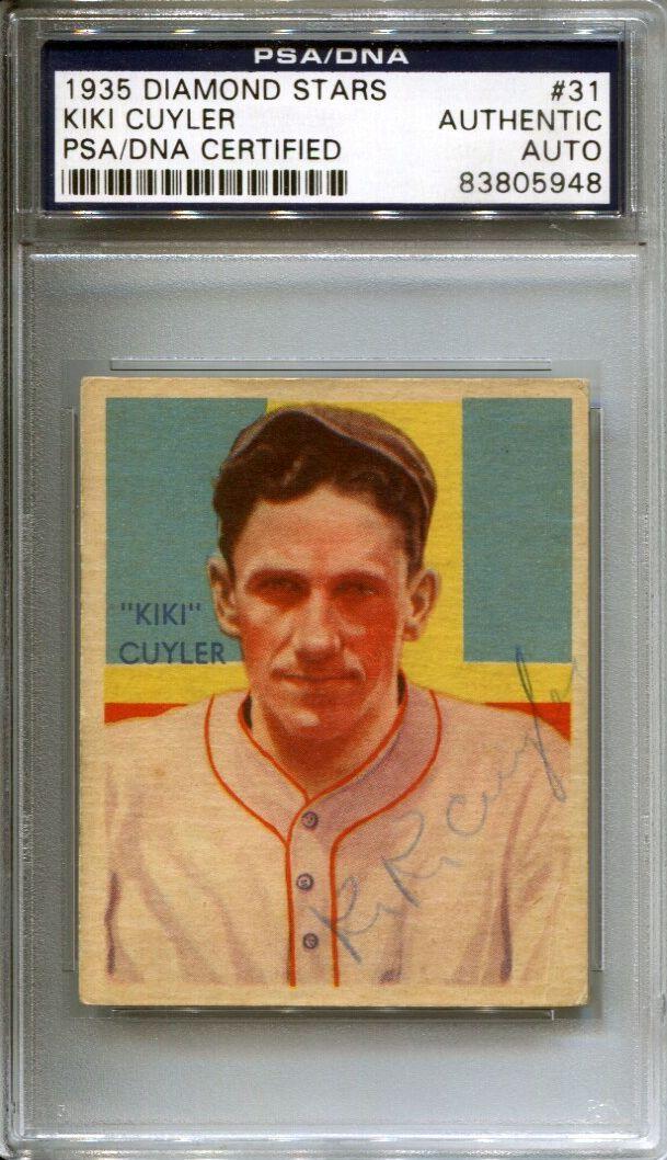 Lot Detail 1935 Diamond Stars 31 Kiki Cuyler Signed Baseball Card