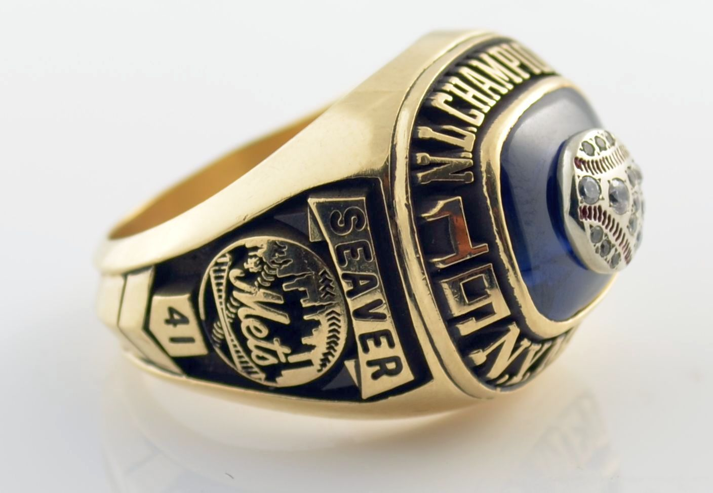 Lot detail 1973 new york mets national league championship ring 1973 new york mets national league championship ring seaver ss 10 k sciox Images