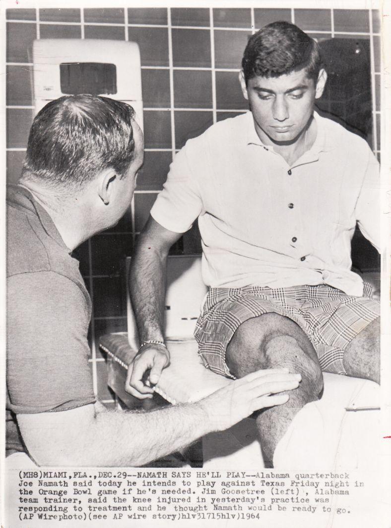 Lot Detail - Joe Namath Before 1964 Orange Bowl - Alabama original ...
