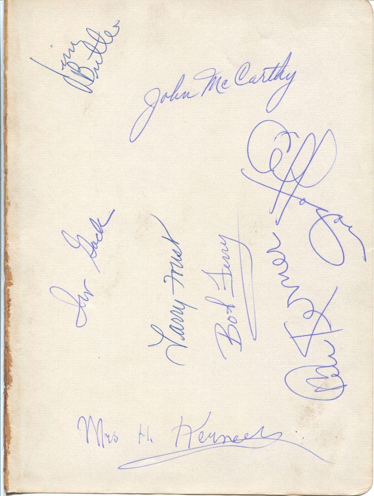 Lot Detail 1959 1960 St Louis Hawks Signed Album Page – Larry