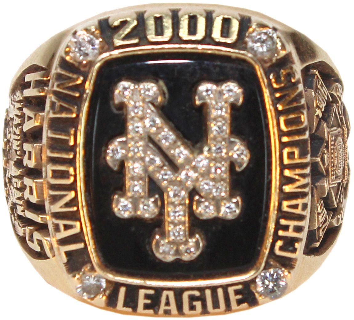 Lot detail 2000 new york mets nl championship ring 14 k lenny 2000 new york mets nl championship ring 14 k lenny harris loa sciox Images