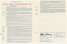 Thurman Munson 1971 New York Yankees Signed AUTO Player Contract