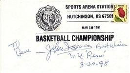 John Isaacs Signed AUTO Postal Cover – Basketball HOF New York Rens