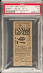 1937 Yankees vs. Red Sox - Lou Gehrig Career HR #464 – Red Ruffing Win #20 Ticket Stub